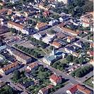 Flygbild Över Borgholm På Öland Med Kyrkan Vid Torget, Aerial View Of Oland