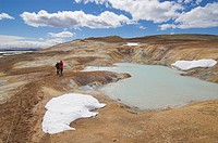 Leirhnjukur thermal area and eruption site near Krafla geothermal power station, Lake Myvatn, North area, Iceland, Polar Regions