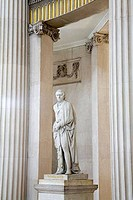 Statue of Thomas Davis in a city hall, Dublin City Hall, Dublin, County Dublin, Ireland