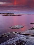 45X60 Stora Nassa, Stockholms Skärgård FOTO: Claes Grundsten COPYRIGHT BILDHUSET Sea Shore At Dusk