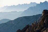 Early morning, Dolomites, Italy, Europe