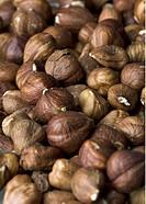 Hasselnötter Utan Skal Pile Of Hazelnuts