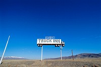 Truck Inn sign, Nevada, USA