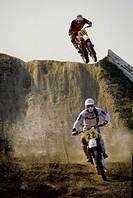 Motocross, Jumping Motocross Racer