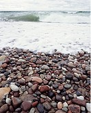 Stenig strand på Gotska Sandön, Pebbles On Beach, Gotska Sandön, Sweden