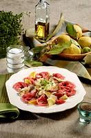 carpaccio with artichoke