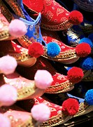 Turkish slippers, Grand Bazaar Great Bazaar Kapali Carsi, Istanbul, Turkey, Europe, Eurasia