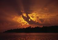 Solnedgång Sunset at dusk