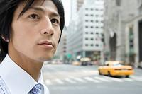 Japanese Businessman On The Street