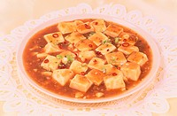 Plate Of Sauce With Tofu