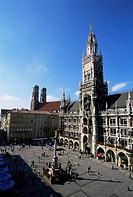 City Hall on Marienplatz, Munich, Bavaria, Germany, Europe