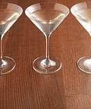 Three Martini Glasses