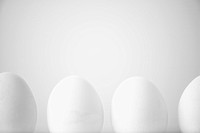 Row of white eggs