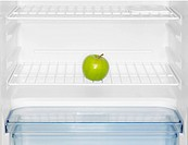Green apple in fridge close-up (thumbnail)