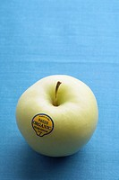 Single organic green apple