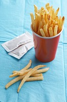 French fries in paper cup
