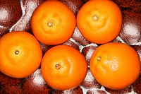Five tangerines
