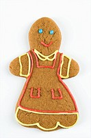Female gingerbread man cookie