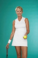 Mature Female Tennis Player