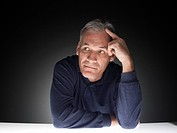 Mature man thinking portrait