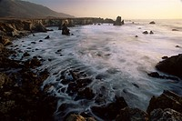 Seascape, Big Sur coast, California, United States of America, North America