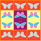 design arts, wallpaper, indoors, background, butterfly, decorative art, pattern