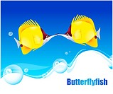 fishes, sea, underwater, undersea, ocean, Butterflyfish