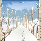 Tree, season, snowing, snow, winter, sky, background (thumbnail)
