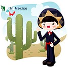sightseeing, tourism, national flag, map, cactus, desert