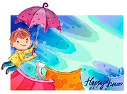 Imaginative, fairy tale, imagination, fancy, umbrella, nature (thumbnail)
