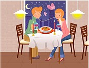 anniversary, table, romance, seasons, couple, love