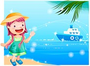 ship, fairy tale, summer, beach, sea, nature