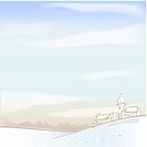 foreset, season, hill, snow, winter, house, background