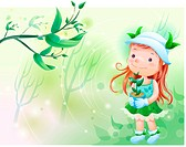 tree, fairy tale, forest, flowerpot, holding, nature