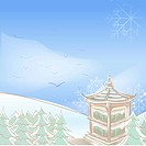 Snowflake, season, snowing, snow, winter, hill, background (thumbnail)