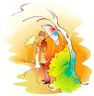 umbrella, lover, holding, park, date, couple