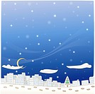 snowing, outdoors, snow, winter, season, city, background