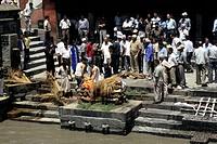 hindu cremation, nepal, asia