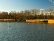 Willen Lake, Milton Keynes, Midland, UK