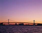 Rainbow Bridge At Sunset