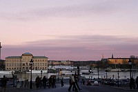Stockholm skyline, the southern side of Blasieholmen, Sweden