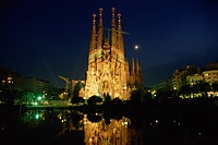The Night View Of Sagrada Familia