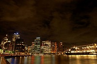 Night view of Sydney Harbour, Australia (thumbnail)