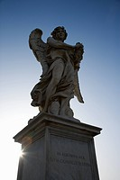 Angel sculpture from Ponte Sant'Angelo bridge in Rome, Italy (thumbnail)