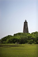 Bald Head Island lighthouse on Bald Head Island, North Carolina.