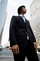 Businessman Standing Outdoors