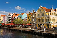 Stores on Handelskade, Punda District, Willemstad, Curacao, Netherlands Antillies, West Indies, Caribbean, Central America