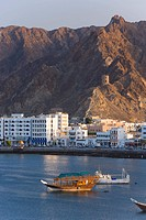 Dhow in the harbour, Mutrah, Muscat, Oman, Middle East