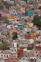 Colourful buildings, Guanajuato, Guanajuato State, Mexico, North America