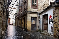 Street of Pasaia-Pasajes, Guipuzcoa, Pais Vasco, Spain